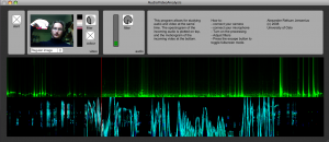 The main window of the AudioVideoAnalysis application