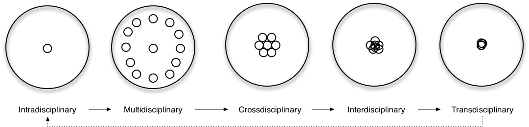 Disciplinarities: intra, cross, multi, inter, trans