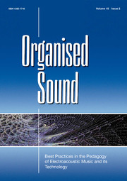 New publication: An Action-Sound Approach to Teaching Interactive Music