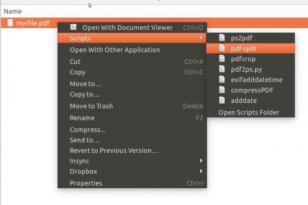 Split PDF files easily using Ubuntu scripts