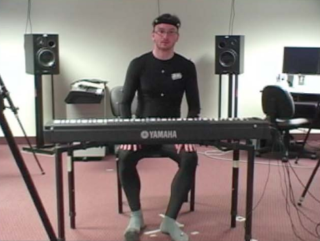 Still from the video recorded from the piano study.